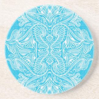 Turquoise, Raven of mirrors, dreams, bohemian Coaster