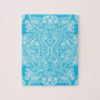 Turquoise, Raven of mirrors, dreams, bohemian Jigsaw Puzzle