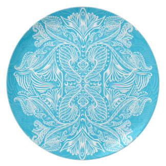 Turquoise, Raven of mirrors, dreams, bohemian Plate