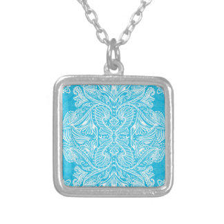 Turquoise, Raven of mirrors, dreams, bohemian Silver Plated Necklace
