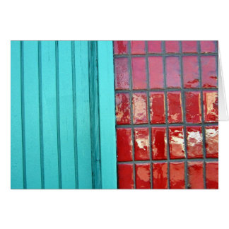 Turquoise Red Card
