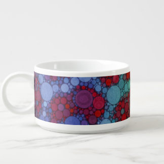 Turquoise Red Cheetah Abstract Chili Bowl
