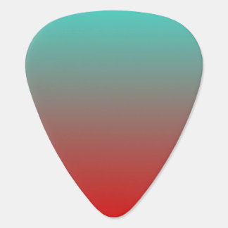 Turquoise Red Ombre Guitar Pick