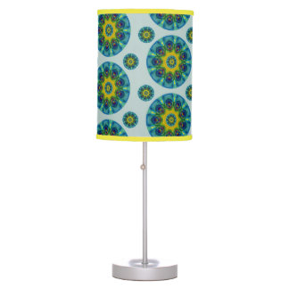 Turquoise Retro Mandala Table Lamp