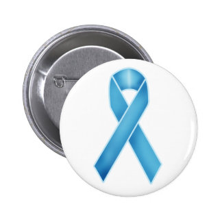 Turquoise Ribbon 2 Inch Round Button