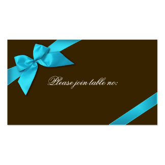 Turquoise Ribbon Guest Table Place Card Business Card