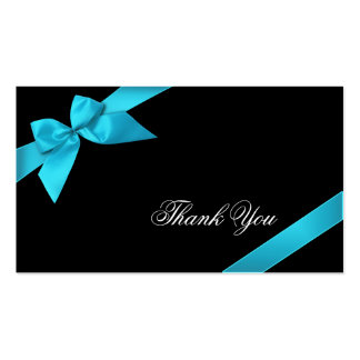 Turquoise Ribbon Thank You Minicard Pack Of Standard Business Cards
