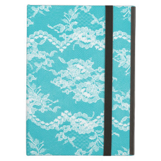 Turquoise Romantic Lace iPad Air Cover
