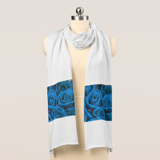 Turquoise Rose shown on White Scarf
