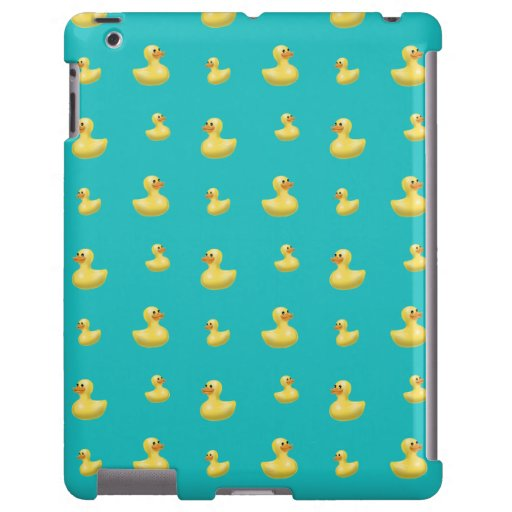 Turquoise rubber duck pattern