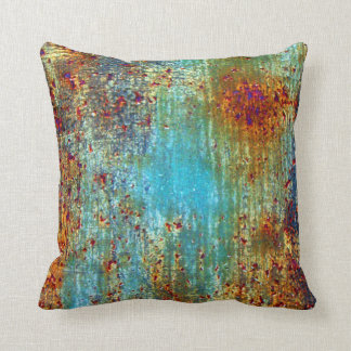 Turquoise Rust Designer Pillow by Julie Everhart