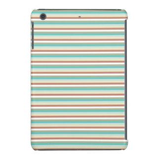 Turquoise Rust Stripped iPad Mini Cover