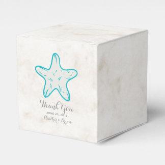 Turquoise Rustic Starfish Wedding Favor Box