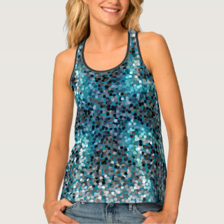 Turquoise Scales Tank Top