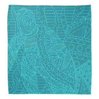 Turquoise Sea Turtle teal ocean tropical Kerchiefs