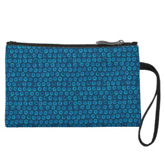 Turquoise Sequin Dots Pattern Mini Clutch