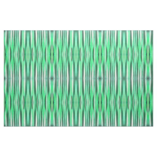 Turquoise Serenity Stripy Pattern Fabric