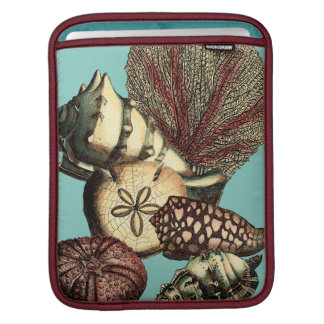 Turquoise Shell and Red Coral Collection Sleeves For iPads