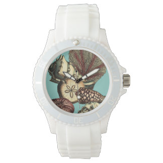 Turquoise Shell and Red Coral Collection Wrist Watches