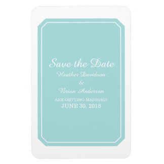 Turquoise Simply Elegant Save the Date Magnet