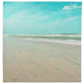 Turquoise Sky Beach Seascape Napkin