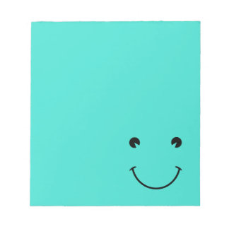 Turquoise  Smile Notepad