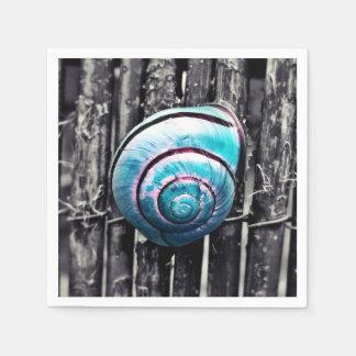 Turquoise snail shell art disposable napkins