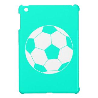 Turquoise Soccer Ball iPad Mini Case