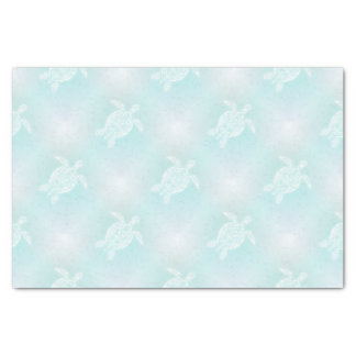 Turquoise Soft Turtles Pattern Tissue Paper