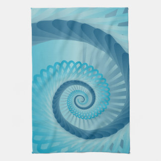 Turquoise Spiral Kitchen Towel