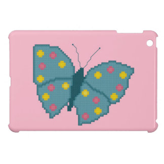 Turquoise Spotted Butterfly iPad Mini Case