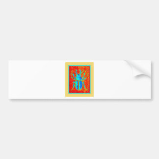 Turquoise Staghorned Beetle by Sharles Bumper Sticker