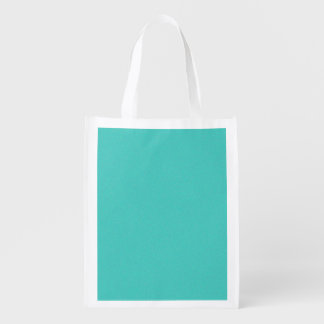 Turquoise Star Dust Reusable Grocery Bag