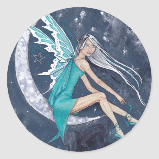 Turquoise Star Fairy Stickers