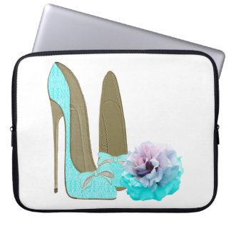 Turquoise Stiletto Shoe and Rose Electronic Case