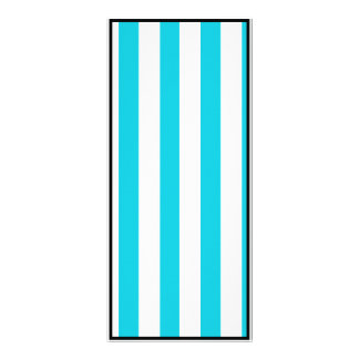 Turquoise Stripes (Add 2nd Color) Personalized Rack Card