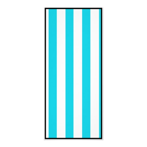 Turquoise Stripes (Add 2nd Color) Rack Card