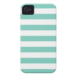 Turquoise Stripes Pattern iPhone 4/4S Case