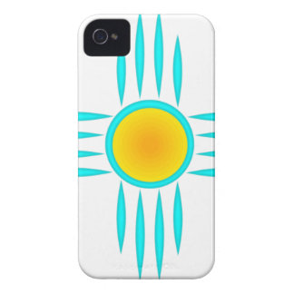 Turquoise Sun God Case-Mate iPhone 4 Cases
