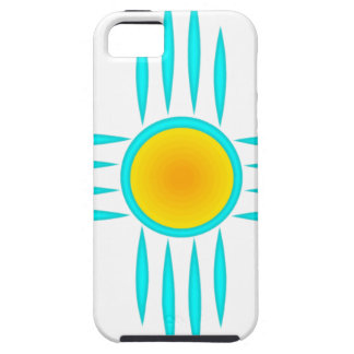 Turquoise Sun God iPhone 5 Cover