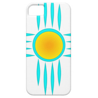 Turquoise Sun God iPhone 5 Covers