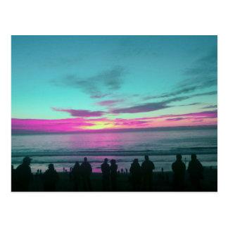 Turquoise Sunset Postcard