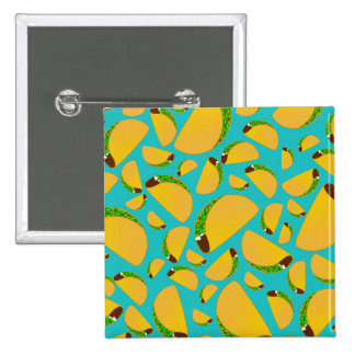 Turquoise tacos 2 inch square button