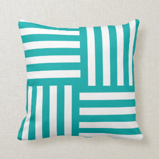 Turquoise Tango Throw Pillow