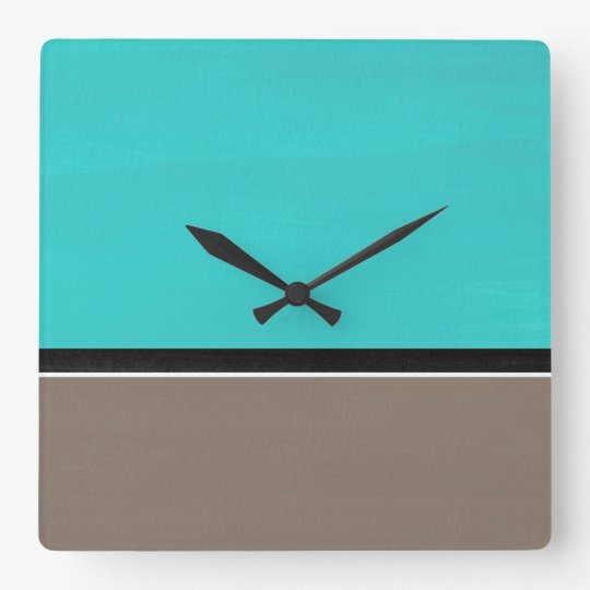 Turquoise Taupe Modern Wallclocks
