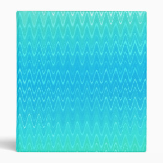 Turquoise Teal Blue Green Abstract Pattern 3 Ring Binder