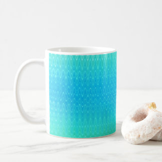 Turquoise Teal Blue Green Abstract Pattern Coffee Mug