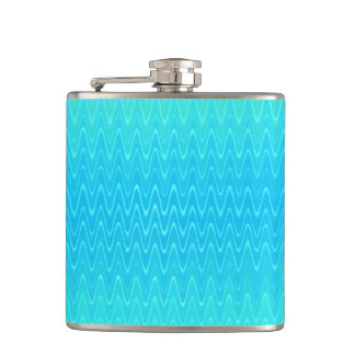 Turquoise Teal Blue Green Abstract Pattern Flask
