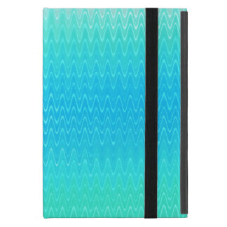 Turquoise Teal Blue Green Abstract Pattern iPad Mini Cases