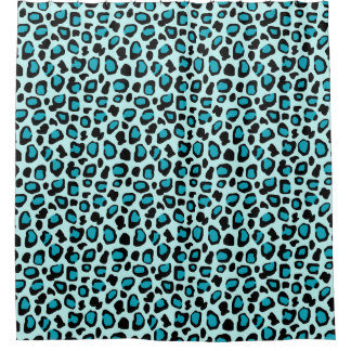 Turquoise Teal Blue Leopard Animal Print Girls